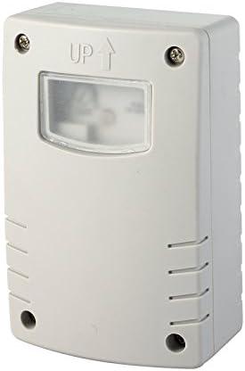 Electraline 58064Interruptor crepuscular con programación, Nocturna, Temporizador, para Uso Exterior IP44, Blanco