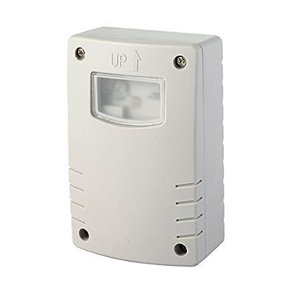 Electraline 58064 Interruptor Crepuscular con Programación, Nocturna, Temporizador, para Uso Exterior IP44,