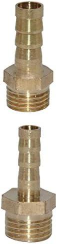 2個 黄銅 ホース チューブ 継手 テールコネクタ 接続用