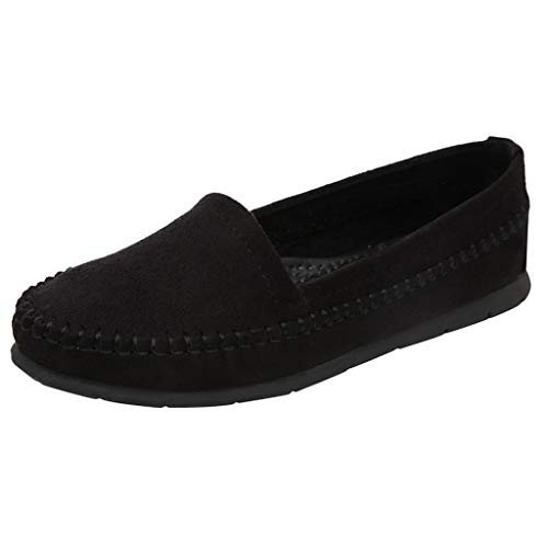 کفش های زنانه AliveGOT Faux Suede Loafers گاه به گاه دور پا Moccasins کفش های تخت وحشی