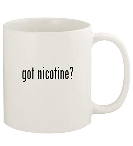 got nicotine? - 11oz Ceramic White Coffee Mug Cup, White