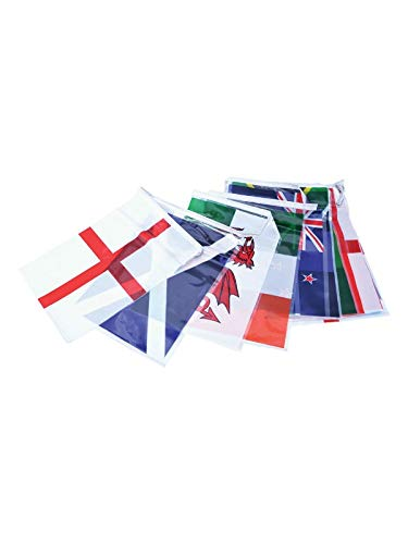 AZ FLAG Rugby World Cup Japan 2019 4 Meters Bunting Flag 20 Flags 6'' x 4'' - World Championship String Flags 10 x 15 cm (All The Flags Of The World Cup)