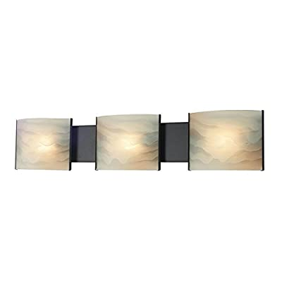 Alico Lighting LD326RSF Wall Mount Sconce, Bronze Finish with Clear Glass Shades