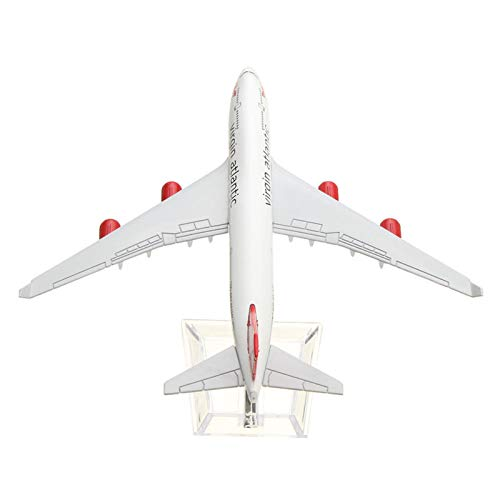 Atlantic Four - FidgetGear 16CM Metal Plane Model Aircraft Diecast Airplane Aeroplane 1:400 Scale Desk Toy B747 Virgin Atlantic