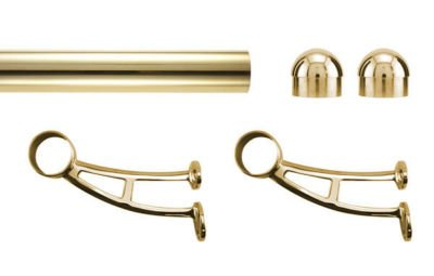 Beautiful Brass Bar Foot Rail Kit