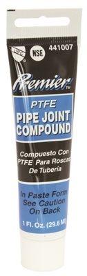PREMIER 441007 Premier Premium-Grade Teflon All-Purpose Pipe Joint Compound, 1 Oz Tube