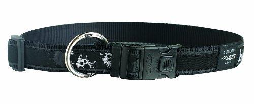 ROGZ Stylish 1-Inch Armed Response Dog Collar, X Large, Stylish Paint Paw Design