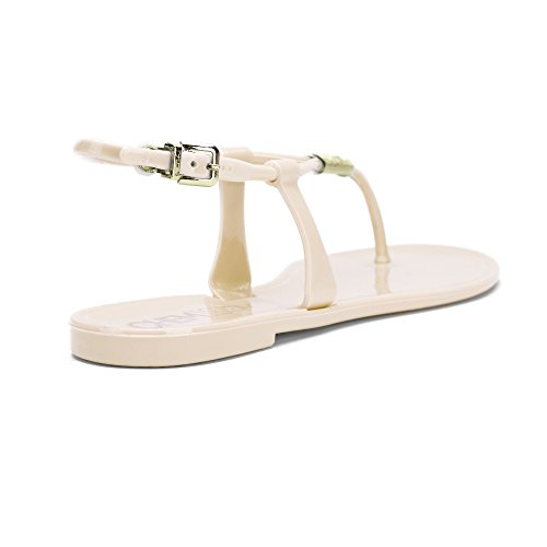 Chemistry® DIANNA Womens Roman Gladiator Thong Flat Sandals Adjustable Ankle Strap Flip Flops Shoes Nude Z4EkfZb