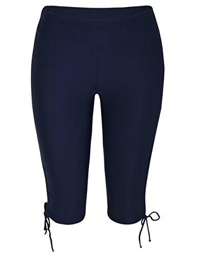 Hilor Women's Rash Guard Board Shorts UPF50+ Sports Capris Swim Bottom Skinny Surfing Tights Leggings Navy 10 ()