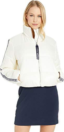 Juicy Couture Zip (Juicy Couture Women's Solid Sleeve Puffer Jacket Bleached Bone Medium)