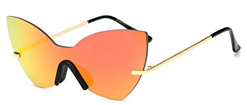 Gafas gradiente Gafas de Montura de Mujer reflexivo de Gafas de Sol Gafas Sol sin de E Ojo Hombre AM265A Espejo D Sol Mujer Rosa KOMNY Gato x5nwHFUqBU