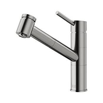 VIGO Branson Single Handle Pull-Out Spray Kitchen Faucet, Stainless ...