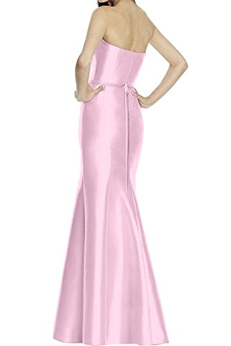 Ivydressing Traegerlos Ballkleider Promkleider Abendkleider 2017 Meerjungfrau Satin Damen Herzform Bodenlang Neu Rosa qSxApBTaqw