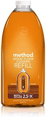 Method Squirt + Mop Hardwood Floor Cleaner Refill, Almond, 68 Fl Oz (Pack of 1)