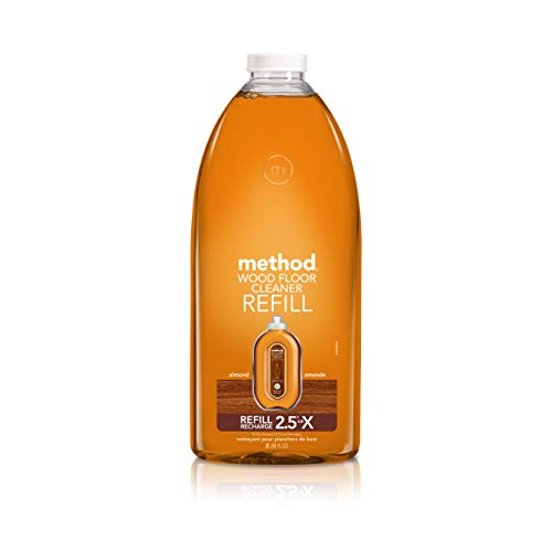 Method Squirt + Mop Hardwood Floor Cleaner Refill, Almond, 68 Ounce ()