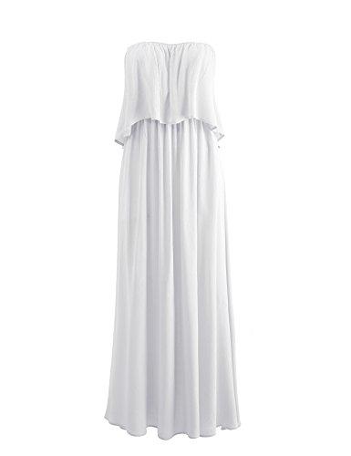 Fuori Delle Vestito Donne Da Volant Partito white Spalla Wdr1736 OnwzqHZn6