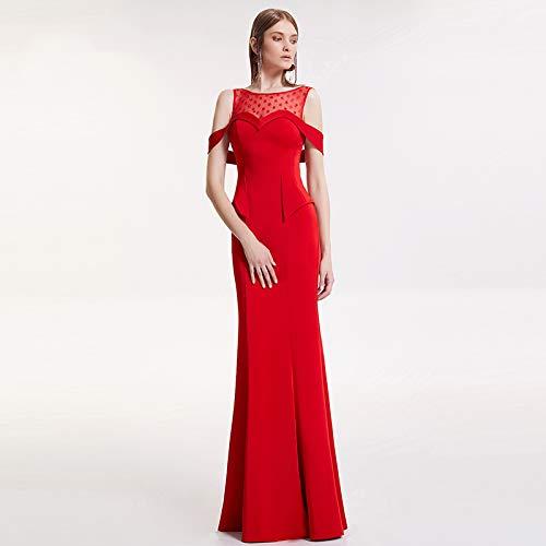 Tostatura Bingqz Sottile Gonna Lunga S Nuova Host Da Abito Red Vestito Dress Femminile Sposa Sezione Sera zzqdrvA