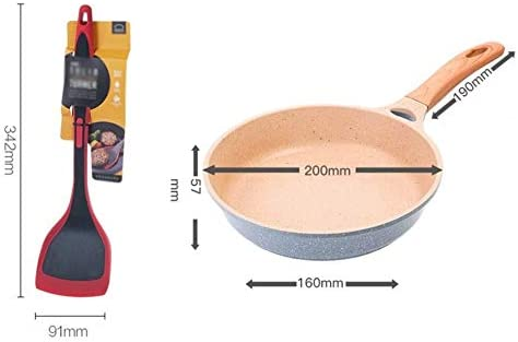 DXDUI Antiadhésif Wok À Fond Plat, Aluminium Acier Induction Poêle avec Couvercle en Verre Et Poignée Ergonomique pour Skillet Accueil Cuisine