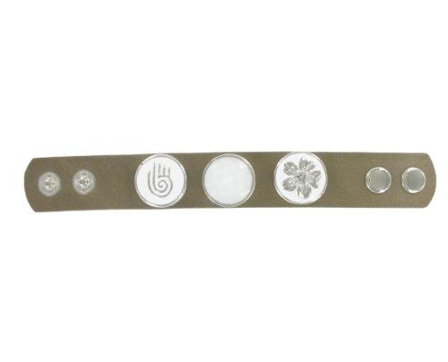 Quiges, Eligo Bijoux 30mm Blanc et noir Fleur Bouton Pression pour 30mm d'accrochage Bracelets Button