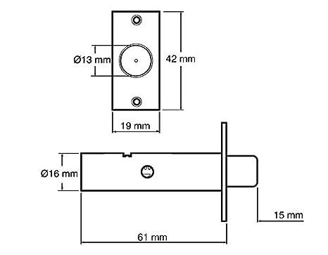 Door Security Bolt Suitable for Wooden Doors Concealed within Door White Yale P-2PM444-WE-2