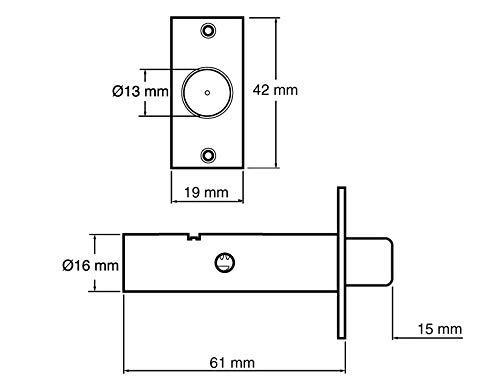 1/St/ück Yale PM444PB T/ürsicherheitsriegel Messing-Finish Sichtverpackung