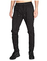 ITALY MORN Men's Cargo Pants Casual Tapered Combat Work Multi Pockets
