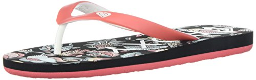 Roxy Girls' RG Tahiti V Flip-Flop, Black Smooth, 1 M US Little Kid (Flip Flops 1)