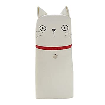 Toogooo - Estuche para lápices de gatos, bonito bolígrafo de expresión con cola roja para