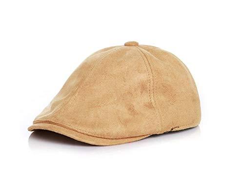 Hearware Enfant Chapeau de béret en cuir de couleur unie pour enfants Chapeau de protection solaire pour enfants Bonnet Petit Bébé Blue Bridge