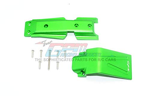 Traxxas E-Revo 2.0 VXL Brushless (86086-4) Upgrade Parts Aluminum Front Skid Plate - 2Pc Set Green ()