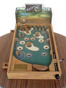 Charmant Old Century Pinball Golf Wood Wooden Table Top Pinball Machine (Game)
