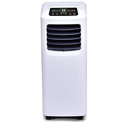 COSTWAY Portable Air Conditioner with Remote Control Dehumidifier Function Window Wall Mount