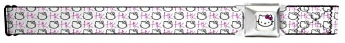 Hello Kitty Animated Character Kitty Outline Collage Seatbelt Belt (Coolest Cartoon Characters)