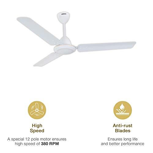 Luminous Morpheus Anti-Rust 1200mm Ceiling Fan White at best price