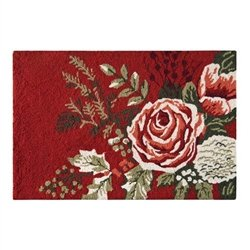 Amazon Com Jardin Rouge Rug By April Cornell Kitchen Dining