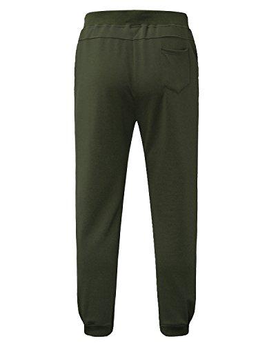 Sweat Vert Sport Pants Armée Sarouel Formation 2 Pantalon Casual Modchok Homme Survêtement Jogging qxwU0FyXgv