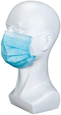 DCG Supplies Made in america 3-Ply Face Masks, Breathable and Comfortable Disposable Face Masks, Face Masks for Office, Home, Indoor and Outdoor Use, Disposable Face Masks 50 Pack - Blue Outer Layer