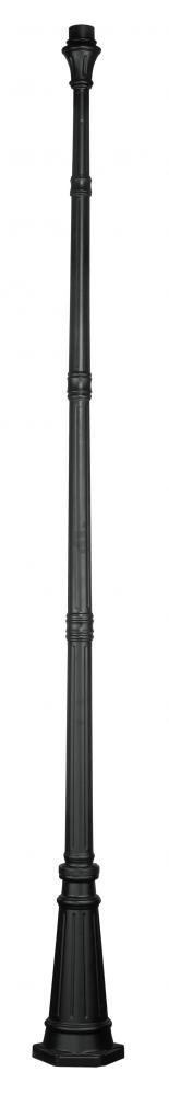 Black 114.5in. Height Outdoor Lighting Accessory Post from the Outdoor Collection