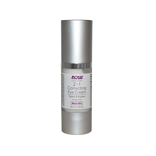NOW Solutions, Eye Cream, 2 in 1 Correcting to Tighten and Brighten the Eye Area, - Ounce Facial Cream 1