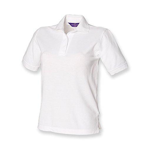 Henbury �?camiseta tipo polo para dama blanco