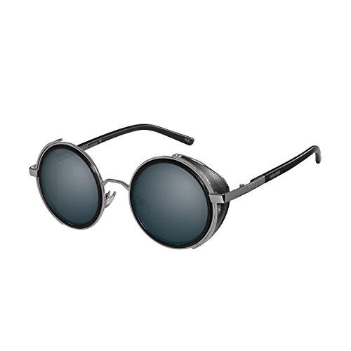 PERVERSE sunglasses Madness Vintage Round Sunglasses (Silver, Black) by PERVERSE sunglasses