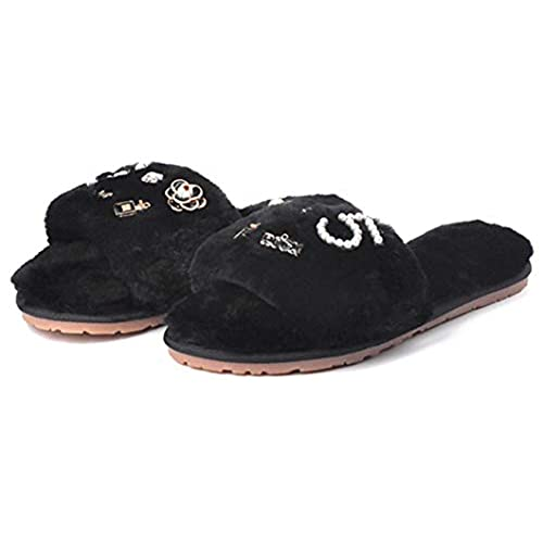 wholesale Women's Fur Slipper for Outdoor Soft Flat Slides with Comfort Plush Lining Slip-on House Indoor Shoes hot sale