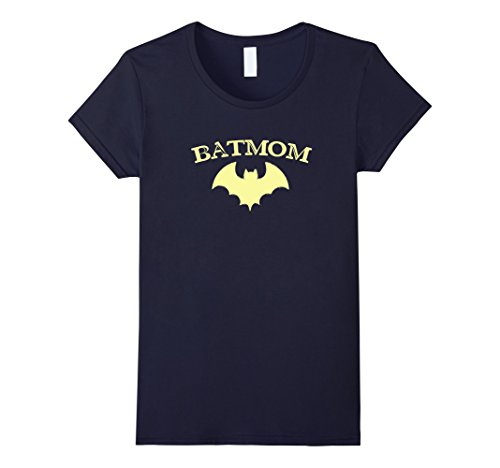 Sister Wife Halloween Costume (Womens Batmom Super Hero Proud Mom Halloween Costume Gift Large Navy)