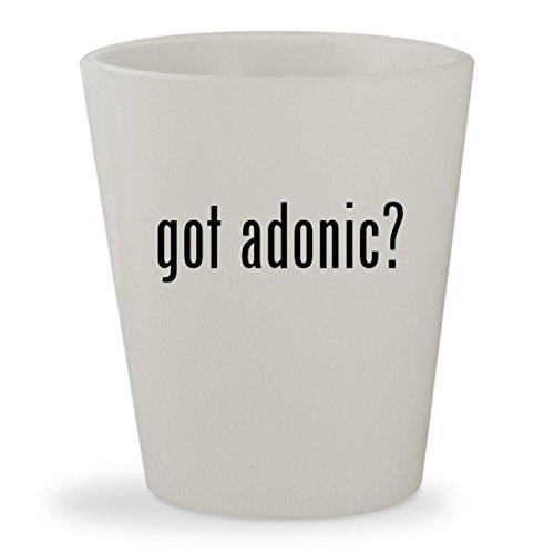 got adonic? - White Ceramic 1.5oz Shot Glass