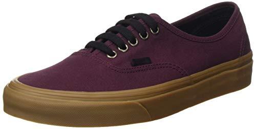 Vans-Mens-Authentic-Gum-Outsole-Canvas-Lace-Up-Trainer-Catawba-GrapeBlack