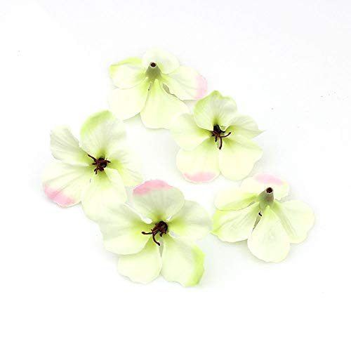 (YUDX121 100pcs/lot Spring Silk Orchid Artificial Flower Heads Gladiolus Cymbidium Flowers for Wedding Decoration (Light Green))