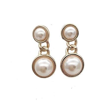 ASHIJIN Trendy Stud Earrings for Women Pearl Earrings Gold Earrings with Orb Jewelry Accessories for Womens Disco