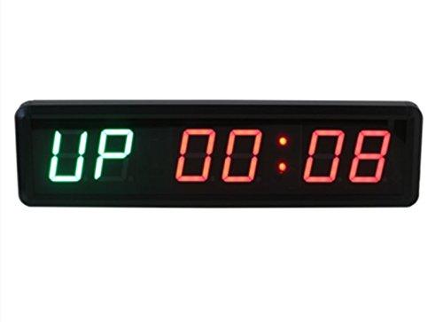 CGOLDENWALL 2.3インチ6ビット高精度LEDタイマー/デジタルクロック/LED壁掛け時計/カウントダウンカード/ジム、ガレージ、会議、家庭、オフィス、フィットネス、ゲーム、倉庫、お店用LEDタイマー (緑赤) B07C2KRVSG 緑赤 緑赤