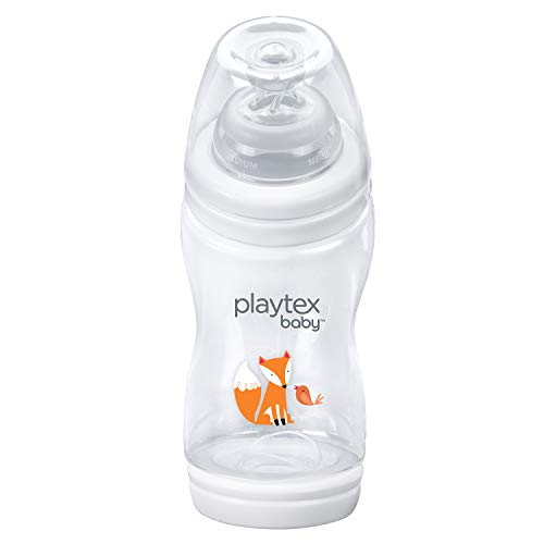 Playtex Baby VentAire Bottle, Helps Prevent Colic and Reflux, 9 Ounce Fox Decorated Bottles, 3 Count