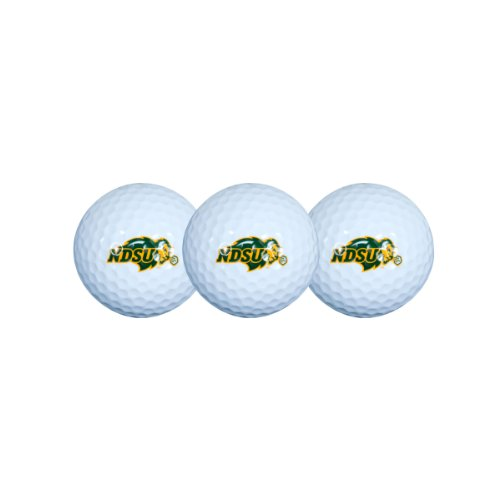 North Dakota State Bison Golf Ball Pack of 3 (Golf Balls Bison Two)